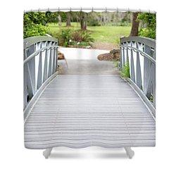 White Bridge Shower Curtain