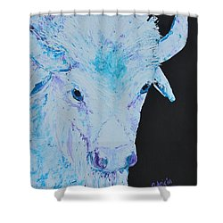 White Buffalo Shower Curtain by Patricia Olson