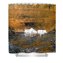 White Buildings No.1 Shower Curtain