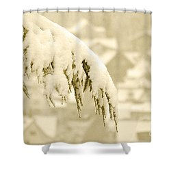 Shower Curtain featuring the photograph White Christmas - Winter In Switzerland by Susanne Van Hulst