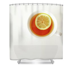 White Cup Of Tea With Lemon Shower Curtain