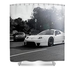 Shower Curtain featuring the photograph White Custom Nsx  by Joel Witmeyer