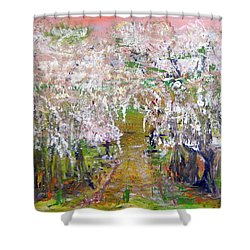 White Delight Shower Curtain
