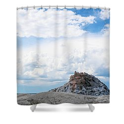 White Dome Geyser Shower Curtain