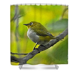 White Eye 1 Shower Curtain