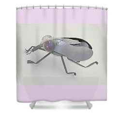 White Fly Shower Curtain by Michael Jude Russo