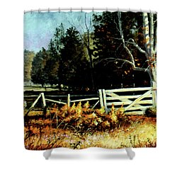 White Gate Shower Curtain