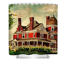 White Hall Shower Curtain