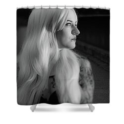 White Heat Shower Curtain
