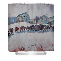 White Hill Zonneberg Maastricht Shower Curtain