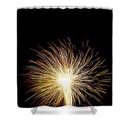 White Hot Shower Curtain by Phill Doherty
