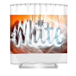 White Hot Shower Curtain