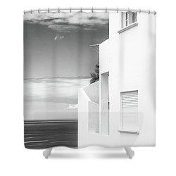 White House Ocean View Shower Curtain