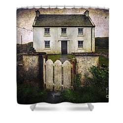 White House Of Aran Island Shower Curtain