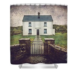 White House Of Aran Island I Shower Curtain