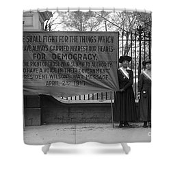 White House: Suffragettes Shower Curtain by Granger