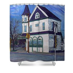 White House Tavern Shower Curtain by Anita Burgermeister