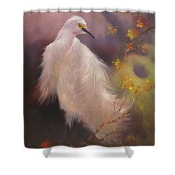 White Hunter Shower Curtain by Donelli  DiMaria