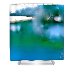 White Ice Shower Curtain
