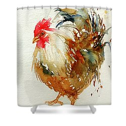 White Knight Rooster Shower Curtain