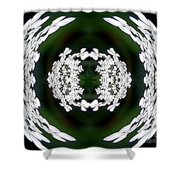 Shower Curtain featuring the digital art White Lace by Charles Robinson