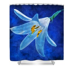 Shower Curtain featuring the digital art White Lilly by Ian Mitchell