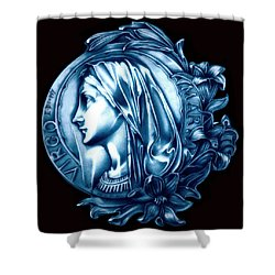White Lilly Of The Virgin Mary Shower Curtain by Fred Larucci