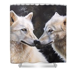 White Magic Shower Curtain