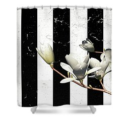 White Magnolia ..digital Shower Curtain