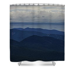 White Mountain Storm Shower Curtain
