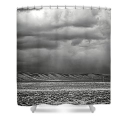 White Mountain Shower Curtain
