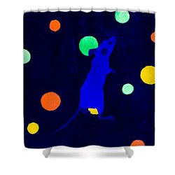 White Mouse Uv Shower Curtain