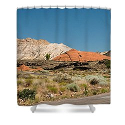 White Navajo Sandstone Petrified Sand Dune Shower Curtain