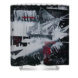 White Noise #1 Shower Curtain