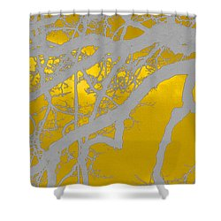 White Oak -yellow Orange Shower Curtain by Tom Janca