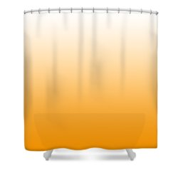 White Ombre Shower Curtain