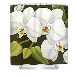 White Orchid Shower Curtain by Inese Poga