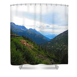 White Pass Rail Road Shower Curtain