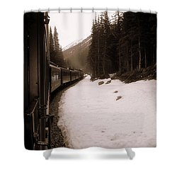 White Pass Railway Shower Curtain
