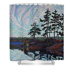 White Pine Island Shower Curtain