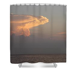 Shower Curtain featuring the photograph White Pink Clouds by Robert Banach
