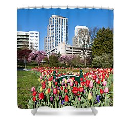 White Plains Beautification Foundation Garden Shower Curtain