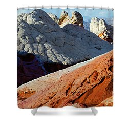 Shower Curtain featuring the photograph White Pocket 34 by Bob Christopher