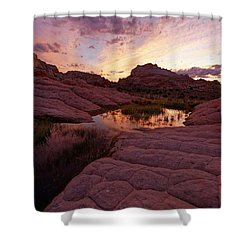 Shower Curtain featuring the photograph White Pocket Sunset by Jonathan Davison