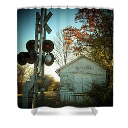 White Post Station Shower Curtain