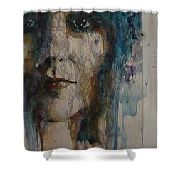 Shower Curtain featuring the painting White Rabbit by Paul Lovering