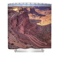 White Rim Road Shower Curtain