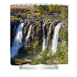 White River Falls In Tygh Valley Shower Curtain by David Gn