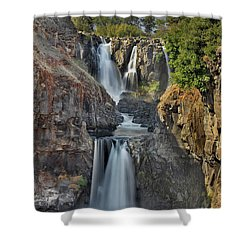 White River Falls State Park Shower Curtain by David Gn