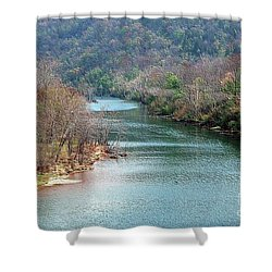 White River Shower Curtain by Kathleen Struckle